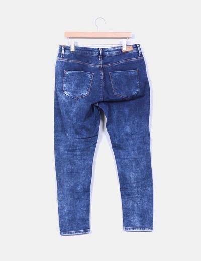 Pantalon elastico efecto desgastdo