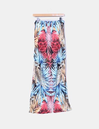 Pantalon fluido multicolor
