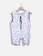Blusa blanca estampado mariquitas Zara