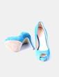 Zapatos peep toe ante turquesa Guess