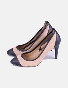 Zapato de tacón combinado bicolor Marypaz