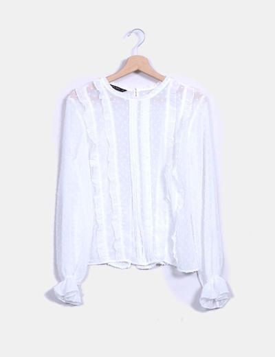Blusa cruda plumetti Zara