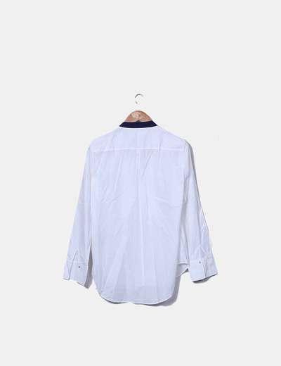 Vestido camisero blanco massimo dutti