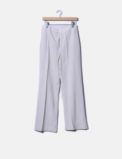 Pantalón recto beige Zara