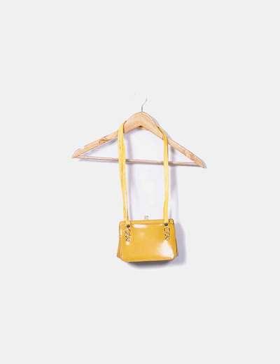 Bolso polipiel amarillo NoName