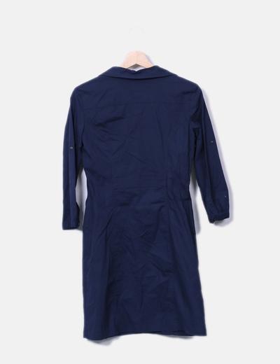 Vestido camisero azul marino mango