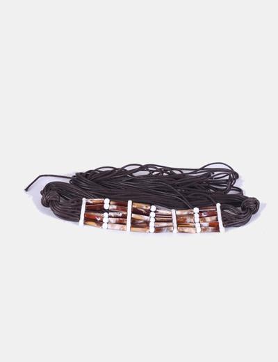 Cinturón marrón de tiras NoName