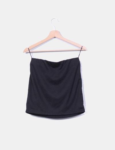 Mini falda negra con pedreria