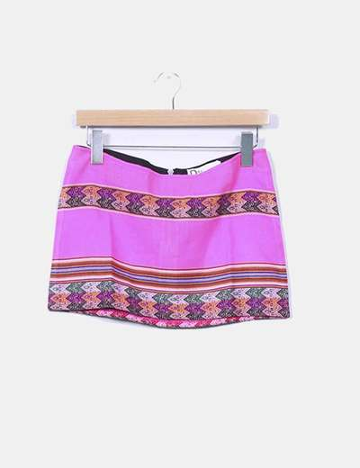 Mini falda inca rosa Pitusa