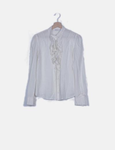 Blusa blanca detalle escote