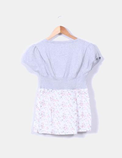 Top tricot combinado