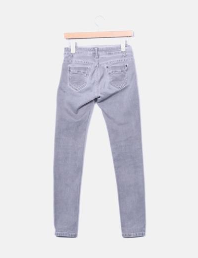 Jeans elastico tiro alto