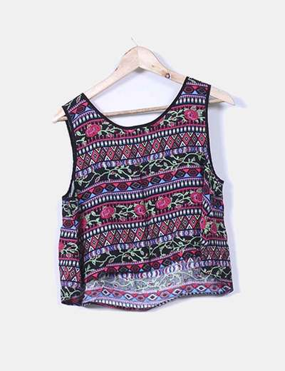 Blusa estampada multicolor