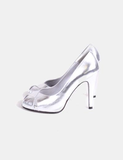 Zapato peep toe plata Cuplé