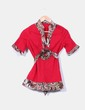 Camisa roja estampado cachemira Anany