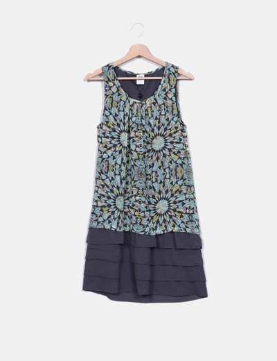 Robe multi-couleurs à volants Vero Moda