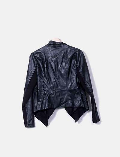 Blazer polipiel negro