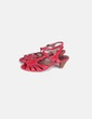 Sandales plate rouges -forme Tex Woman