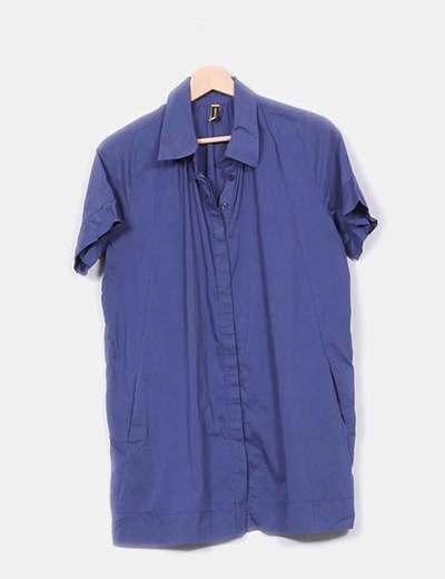 Blusa azul marino manga corta Only