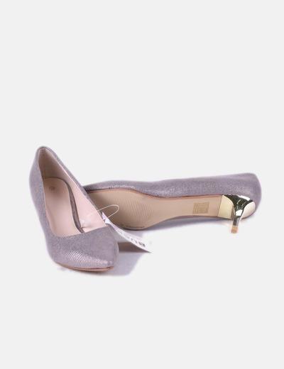 Lila Salón Satinado Zapato De reWCxBod
