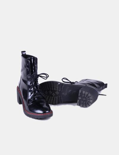 Botas negras acharoladas