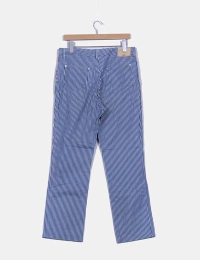 Pantalon a rayas recto