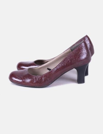Chaussure à talon marron pointe arrondie Tex Woman