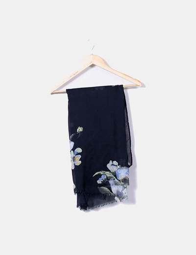 Pañuelo negro estampado