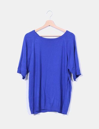Jersey azul de punto Zara