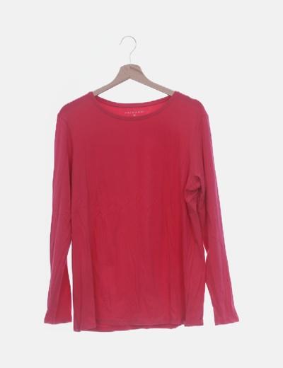 Camiseta rosa de manga larga