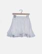 Falda blanca detalles plisados Storets