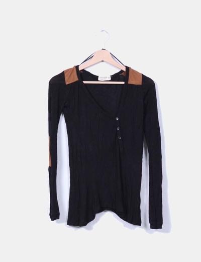 Top tricot negro coderas antelina Jennyfer