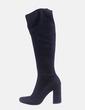 Maxi bota negra con tacón Zara