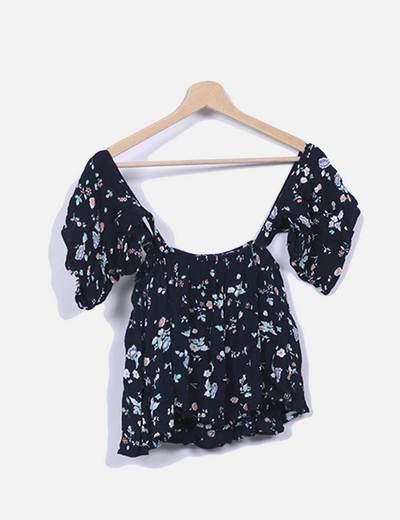 Top crop estampado