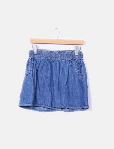 Mini falda denim  Blanco