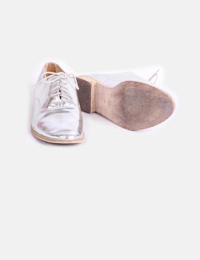 Plano descuento Zara Zapato Plateado Micolet 80 zqxHpw