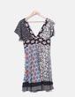 Vestido escote pico colores detalle paillettes Desigual