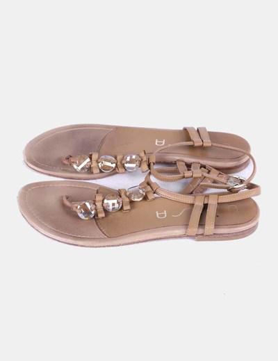 Sandales marron avec strass Unisa