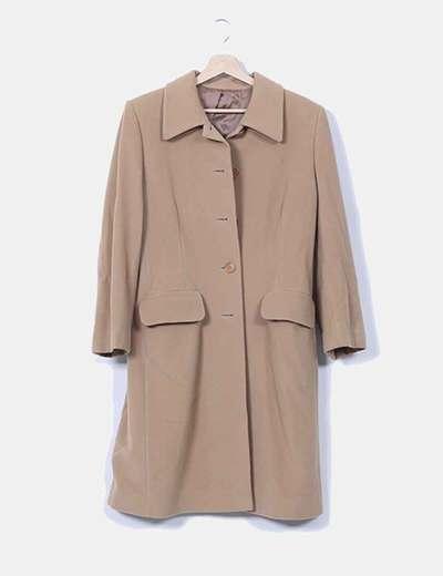 Abrigo largo beige Tintoretto
