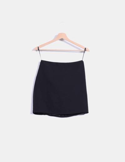 Mini falda negra con pailettes