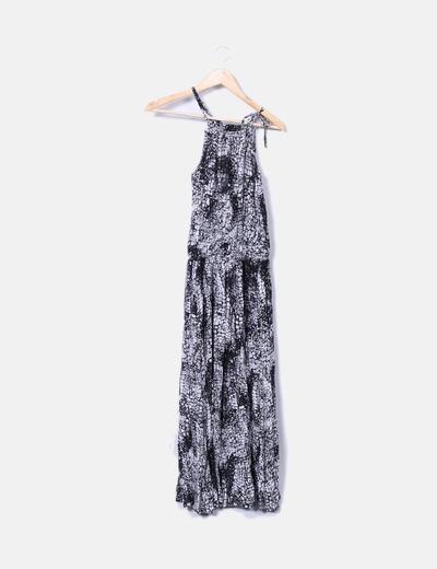 Vestido largo bicolor NoName