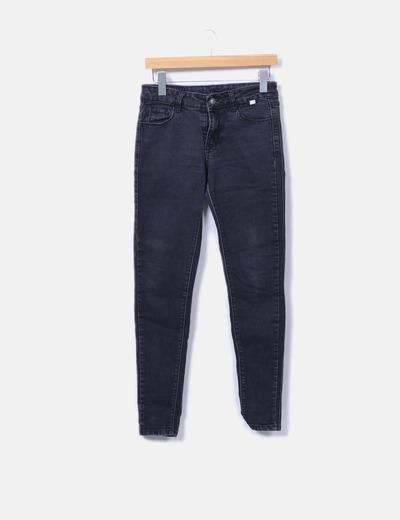 Pantalon noir ajusté NoName