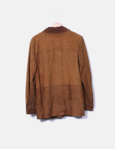 Camisa de ante camel