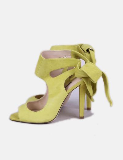 5f0ca5552 Zara Sandalias amarillas de tacón (descuento 77%) - Micolet
