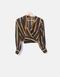 Kurze Bluse mit Streifen gekreuzt NoName