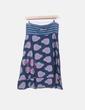 Falda midi azul marino estampada Desigual