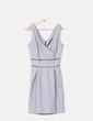 Vestido jaspeado escote en V Suiteblanco