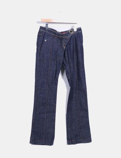 Jeans vaquero recto azul oscuro Miss Sixty