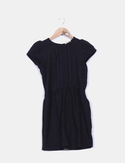 Vestido negro manga corta Sessún