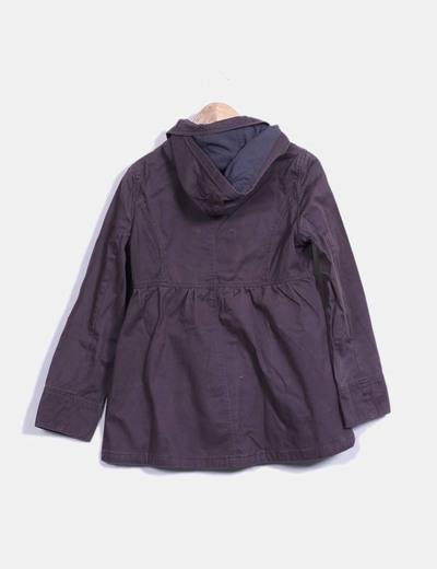 Abrigo marron con capucha